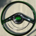 Lincoln 1948 in Transparent Green with Custom Button